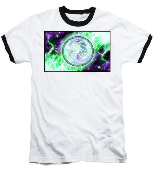 Cosmic Lifestream Baseball T-Shirt by Shawn Dall