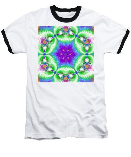 Cosmic Spiral Kaleidoscope 10 Baseball T-Shirt