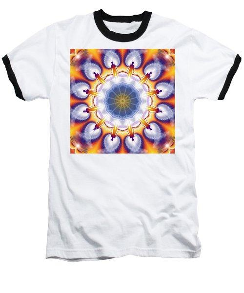 Cosmic Spiral Kaleidoscope 34 Baseball T-Shirt