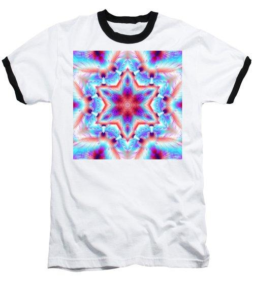 Cosmic Spiral Kaleidoscope 45 Baseball T-Shirt