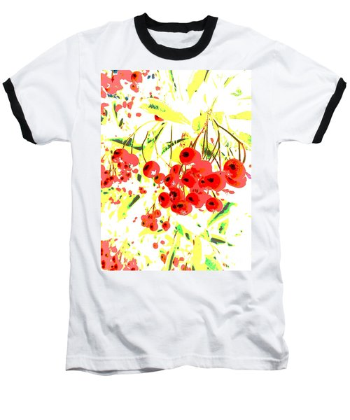 Baseball T-Shirt featuring the photograph Cotoneaster by Barbara Moignard