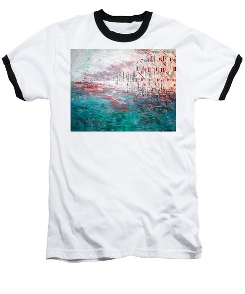 Cottages On The Bay  Baseball T-Shirt by George Riney