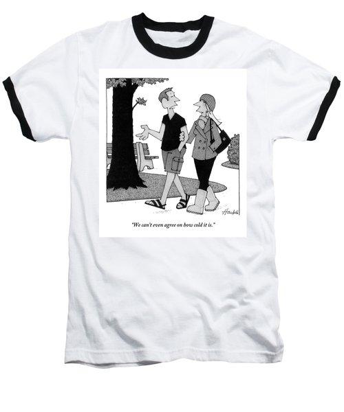 Couple Taking Walk Baseball T-Shirt