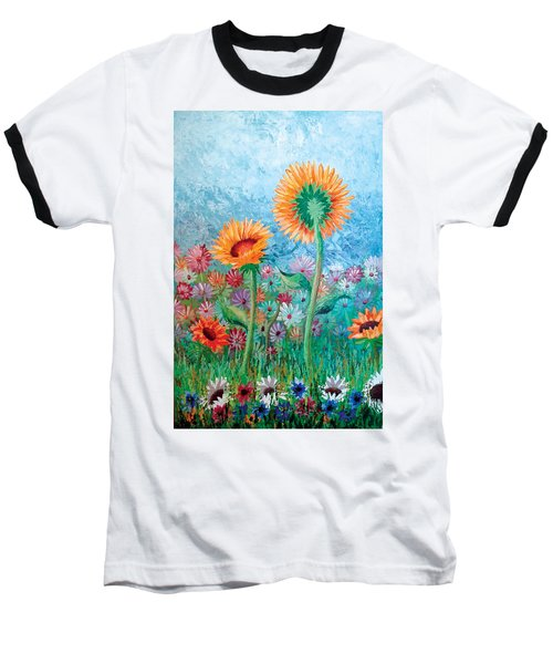 Courting Sunflowers Baseball T-Shirt