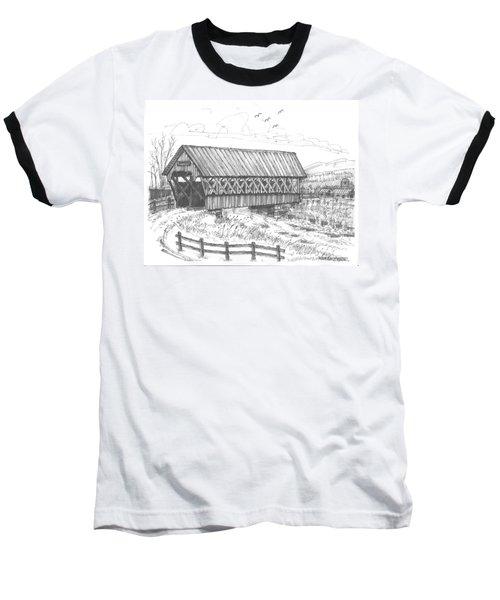 Covered Bridge Coventry Vermont Baseball T-Shirt