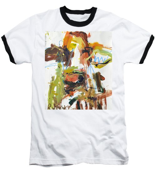 Cow With Green And Brown Baseball T-Shirt