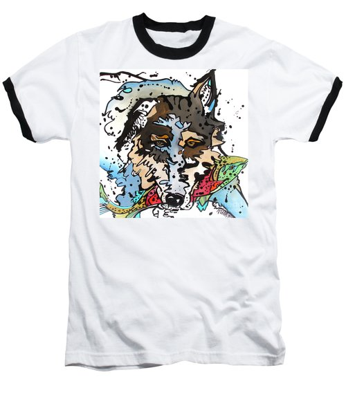 Baseball T-Shirt featuring the painting Coyote  by Nicole Gaitan