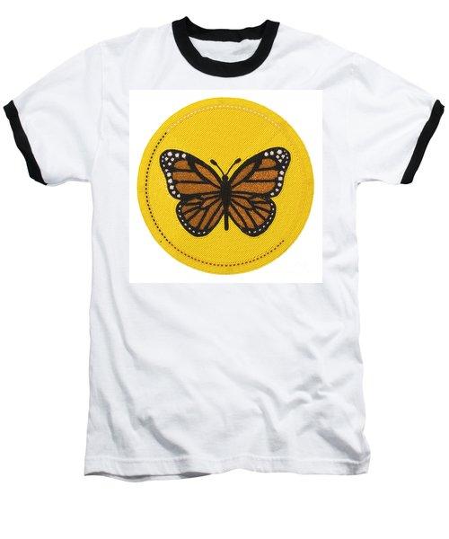 Cradleboard Beadwork Spring Butterfly Baseball T-Shirt