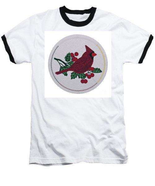 Cradleboard Beadwork Winter Cardinal Baseball T-Shirt