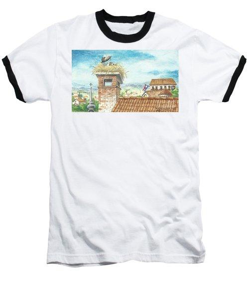 Cranes In Croatia Baseball T-Shirt