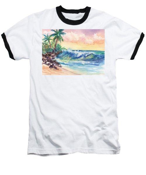 Crashing Waves At Sunrise Baseball T-Shirt