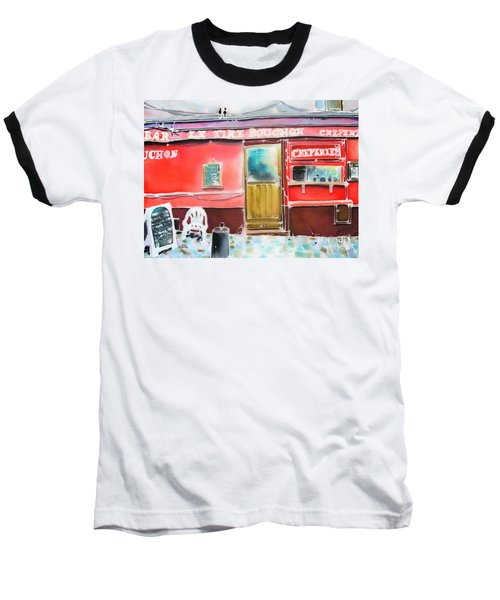 Baseball T-Shirt featuring the painting Creperie by Hisayo Ohta