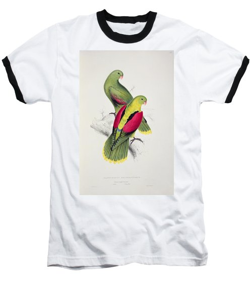 Crimson Winged Parakeet Baseball T-Shirt