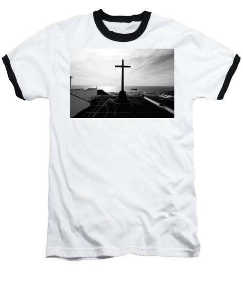 Cross Atop Old Chapel In Village  Baseball T-Shirt