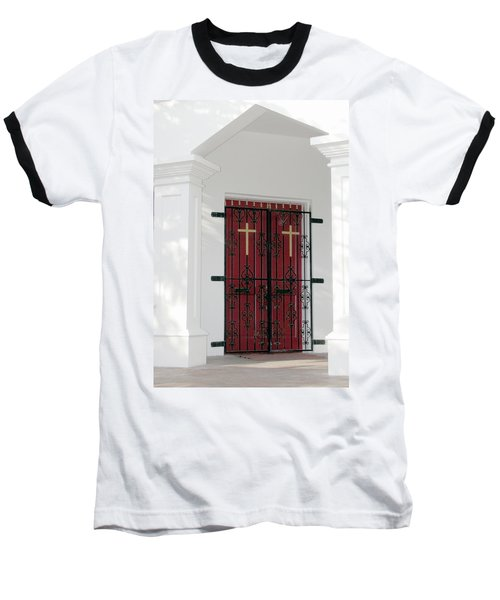 Key West Church Doors Baseball T-Shirt