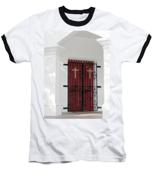 Key West Church Doors Baseball T-Shirt