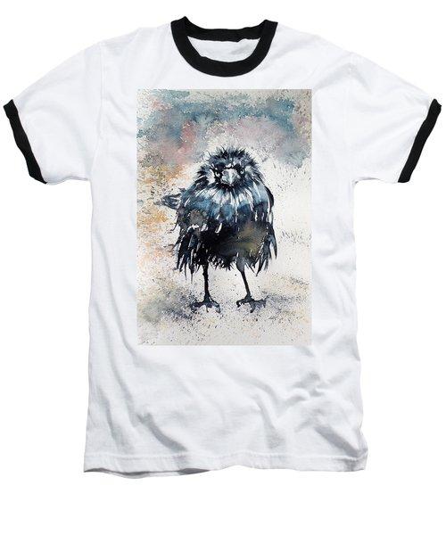 Crow After Rain Baseball T-Shirt by Kovacs Anna Brigitta