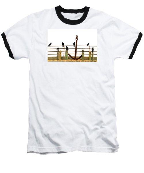 Crows At Anchor Baseball T-Shirt by John King
