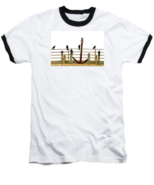 Crows At Anchor Baseball T-Shirt