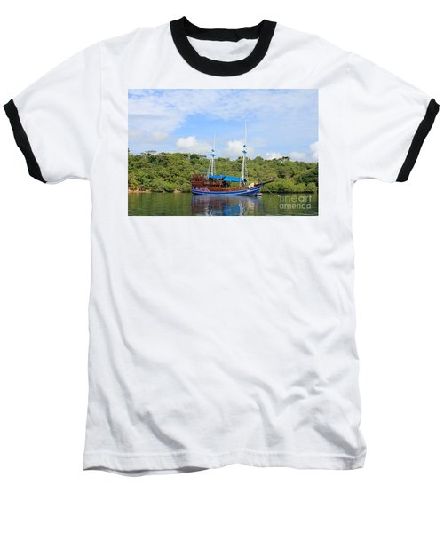 Baseball T-Shirt featuring the photograph Cruising Yacht by Sergey Lukashin
