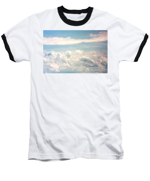 Cumulus Clouds Baseball T-Shirt