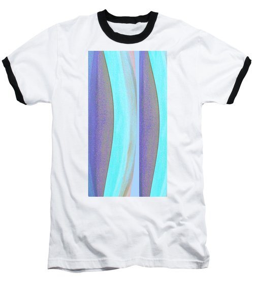 Baseball T-Shirt featuring the painting Curves2 by Stephanie Grant