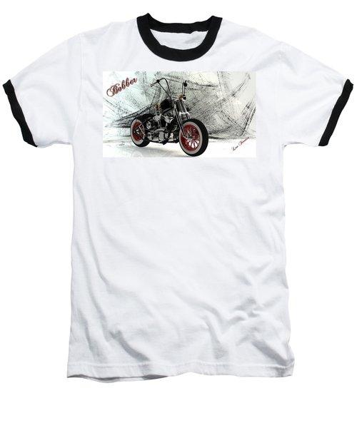 Custom Bobber Baseball T-Shirt by Louis Ferreira