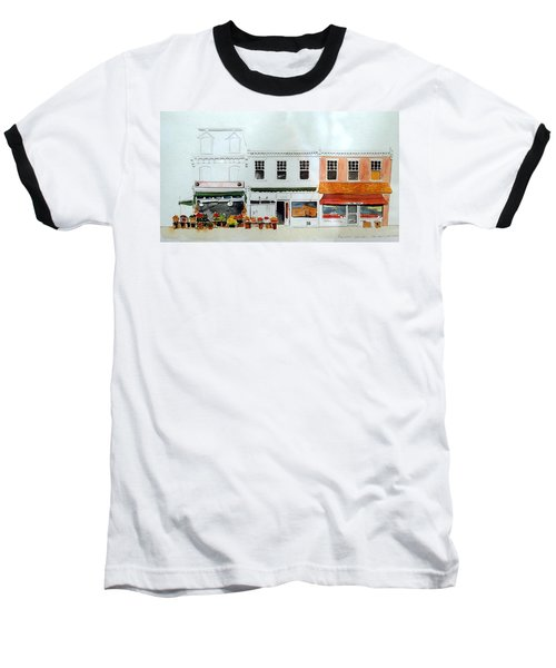 Baseball T-Shirt featuring the painting Cutrona's Market On King St. by William Renzulli
