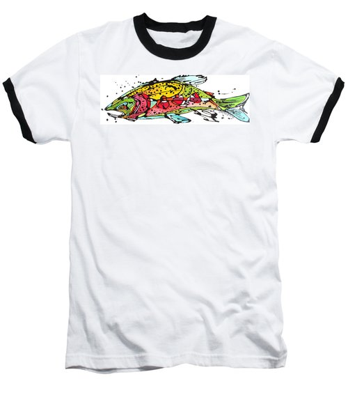 Baseball T-Shirt featuring the painting Cutthroat Trout by Nicole Gaitan