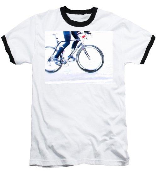 Cycling Baseball T-Shirt by Theresa Tahara