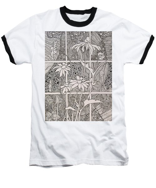Daisies In A Window Baseball T-Shirt