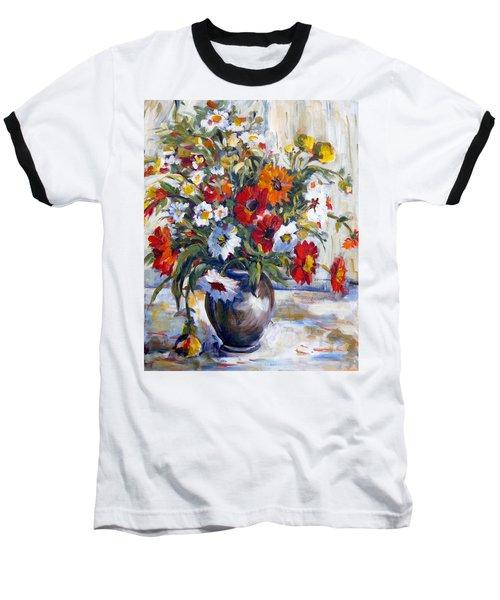 Daisies Baseball T-Shirt by Alexandra Maria Ethlyn Cheshire