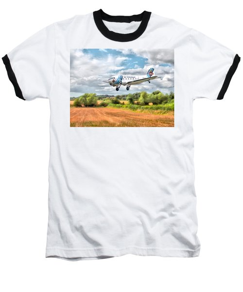 Baseball T-Shirt featuring the digital art Dakota - Cleared To Land by Paul Gulliver