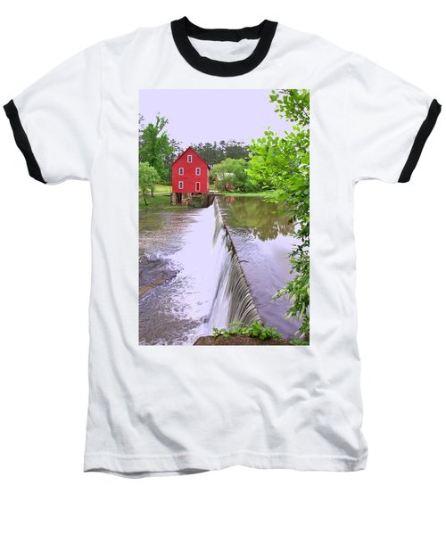 Dam At Starrs Mill Baseball T-Shirt