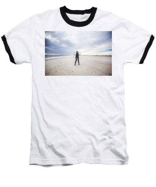Dance At The Beach Baseball T-Shirt