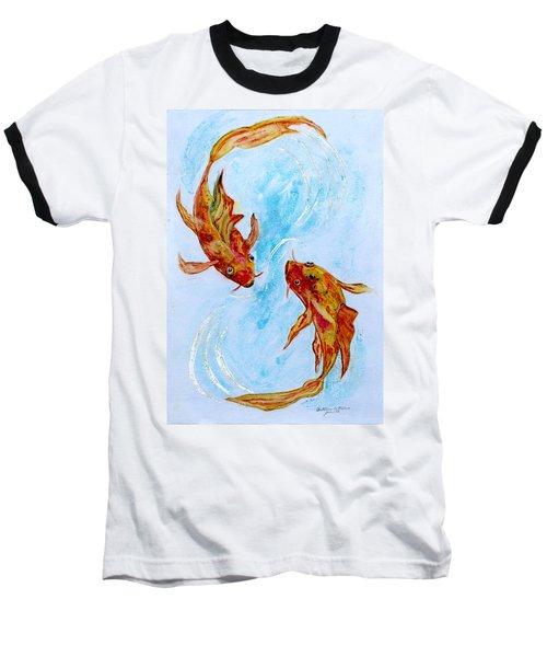 Dancing Koi Sold Baseball T-Shirt