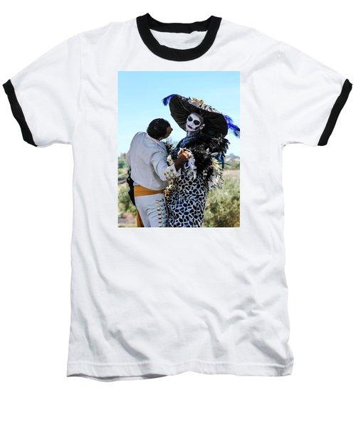 Dancing With The Death Baseball T-Shirt by Menachem Ganon