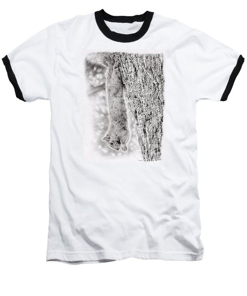 Dangling Squirrel Baseball T-Shirt