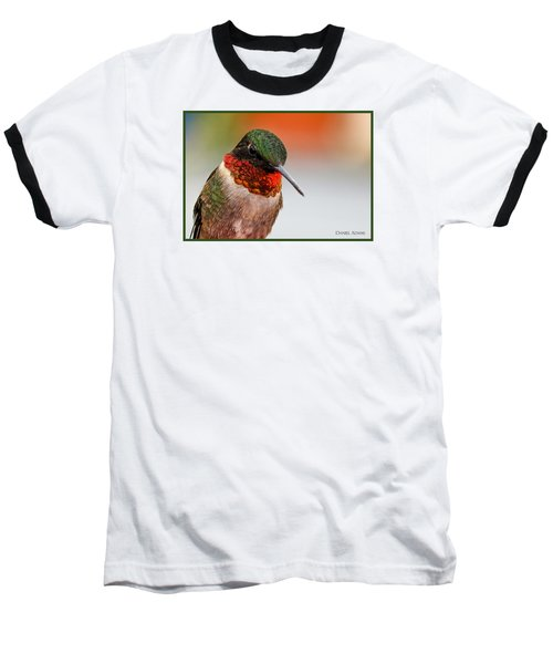 Da162 Hummingbird Thinking By Daniel Adams Baseball T-Shirt