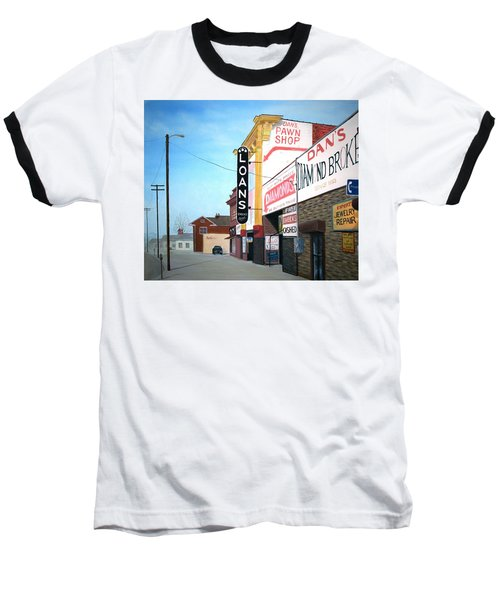 Baseball T-Shirt featuring the painting Dan's by Stacy C Bottoms