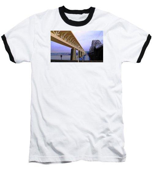 Darnitsky Bridge Baseball T-Shirt by Oleg Zavarzin
