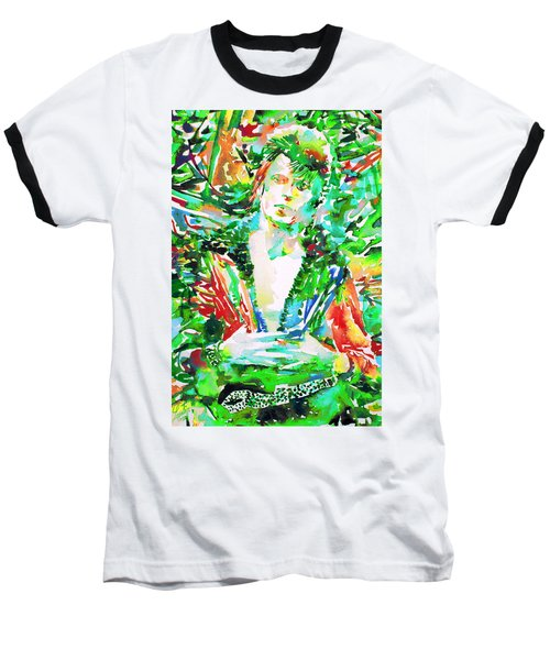 David Bowie Watercolor Portrait.2 Baseball T-Shirt