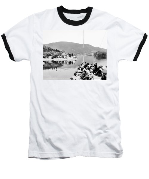 Dayliner At The Narrows In Black And White Baseball T-Shirt