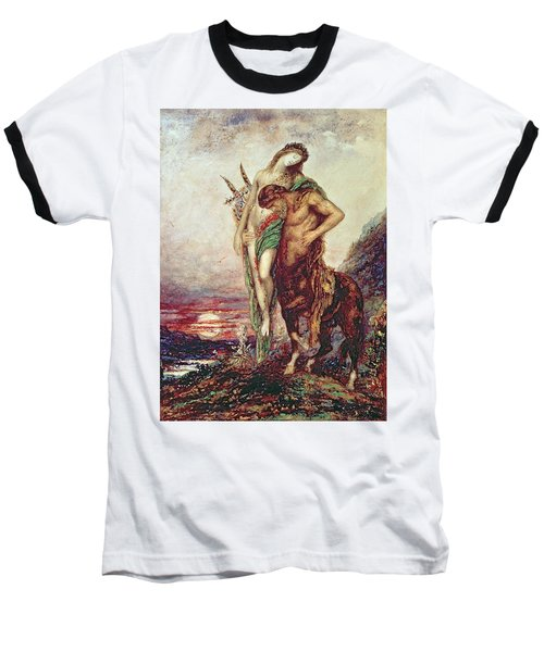 Dead Poet Borne By Centaur Baseball T-Shirt by Gustave Moreau