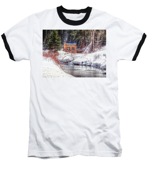 Deep Snow In Spearfish Canyon Baseball T-Shirt by Lanita Williams