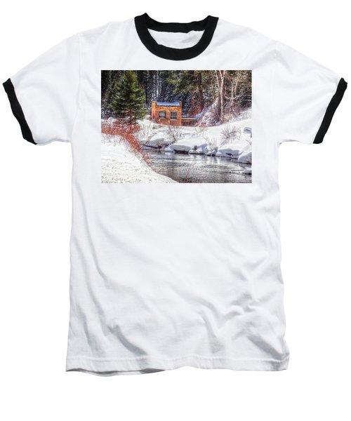 Deep Snow In Spearfish Canyon Baseball T-Shirt