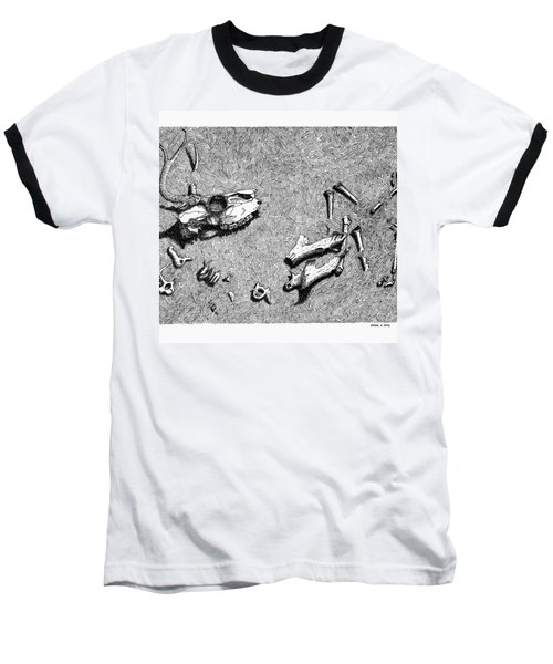 Deer Bones Baseball T-Shirt