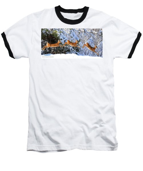 Deer Jump Baseball T-Shirt