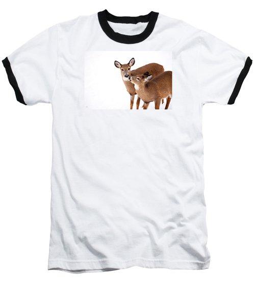 Deer Kisses Baseball T-Shirt by Karol Livote