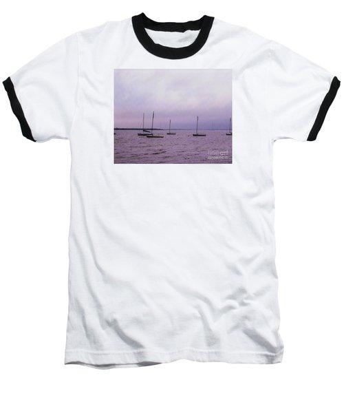 Delaware Harbor Baseball T-Shirt by David Jackson